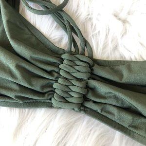 Tigerlily Swim - Olive Army Green Australian TIGERLILY Bikini S XS